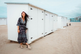 Blogster Leila van I really need my space op het strand in Knokke-Heist